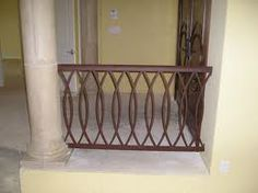 Brown Wrought Iron Railing for Porch