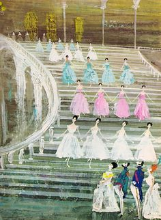 tales from the ballet illustrated by Alice & Martin Provensen (1968).  I want this for my little girl's room :)