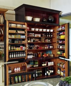BUILT IN PANTRY, THAT CLOSES LIKE A FRIDGE