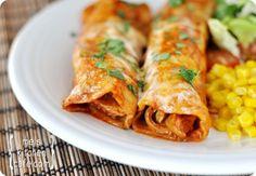make ahead red chile sauce chicken enchiladas