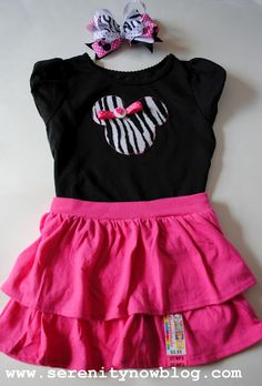 Serenity Now: DIY Minnie Mouse Silhouette T-Shirt Tutorial