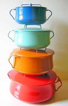 I love these colorful pots!