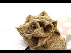 Stampin Up UK Ribbon Rose Tutorial - interesting technique and great tut to create 3D roses from ribbon - demo using Burlap Ribbon from holiday catalog, but can use other ribbon as well