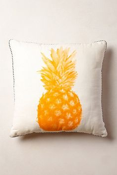 Pineapple Print Pillow - anthropologie.com