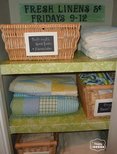 Organizing the linen closet via the happy housie