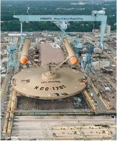 Meanwhile in Newport News, Virginia . . . This dude is building the Enterprise.... >>> MAKE IT SO.  I seriously feel like screaming with joy right now, and I would if everyone but me weren't asleep.
