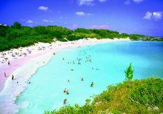 A spectacular pink sand beach in Bermuda
