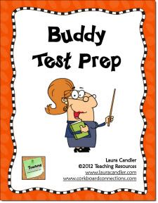 FREE Buddy Test Prep Activity makes test prep fun! Students take turns working alone and then with a buddy to complete test prep worksheets.  Step-by-step directions included. This freebie has been downloaded from TpT over 35,000 times!