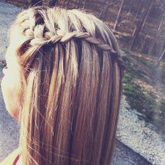 waterfal braid, makeup, braid braid, waterfall braids, hair