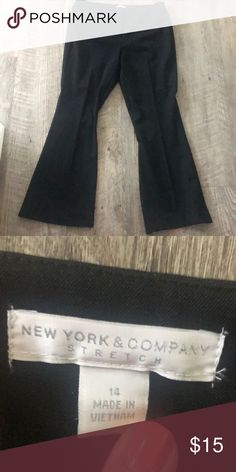 NY&CO Stretch Black Suiting Slacks Work Pants - 14 Gently worn New York & Company Pants Boot Cut & Flare