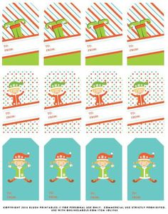 #Free To: and From: #Christmas Gift #Tag #Labels, print on OnlineLabels.com full sheet card stock or label item number OL1763.  Cut your costs this holiday season with this free #printable