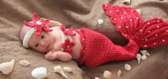 Crochet Pearls Mermaid Tail Prop Sets 6-12mons  MADE TO ORDER.