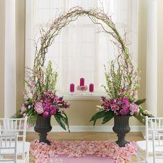Gorgeous idea for the altar