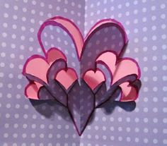 How to make a fractual heart card.