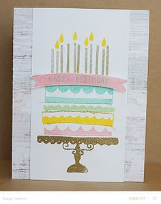 happy birthdays, emboss card, builder cake, happi birthday, embossed cards