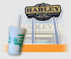 Now you can make your own Date & Banana Hadley's Famous Milk Shake at home. Enjoy!   http://neighborchicks.blogspot.com/2013/03/hadleys-world-famous-date-shake.html