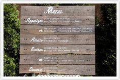 #wedding #menu