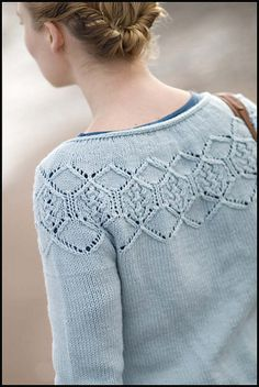 gudrun's gorgeous work - have the yarn set to knit this in a deep rosie pink.