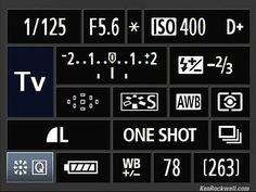 Quick Control Panel - canon mark ii
