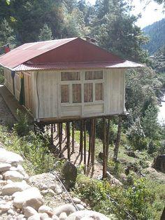 house on stilts!!, Lukla, Nepal