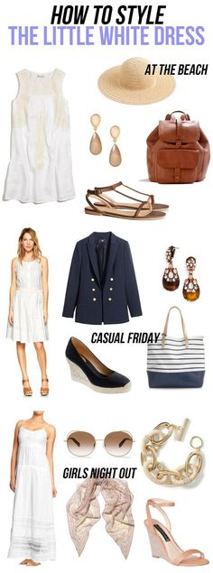 jillgg's good life (for less) | a style blog: how to style: the little white dress!
