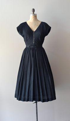 1950s dress / black 50s dress / Morceaux Moderato by DearGolden, $185.00