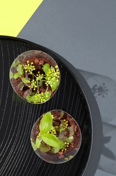 Edible Mini chocolate terrariums by Theresa Nguyen for thedesignfiles.net .  Photo - Phu Tang, styling - Gemma Lush