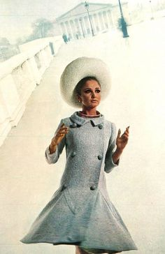 Pierre Cardin    Model Sue Murray is photographed in Paris by David Bailey,wearing a creation by Pierre Cardin.UK Vogue,March 1965