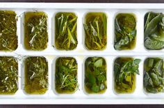 How to: Freeze & Preserve Fresh Herbs in Olive Oil