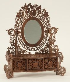 scroll saw french mirror with drawer