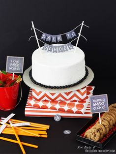 Back To School Party + Free Cake Topper & Party Printables | Kim Byers, TheCelebrationShoppe.com