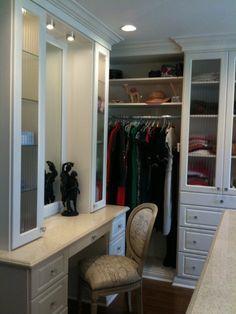 Dressing Room Vanity, Antique White