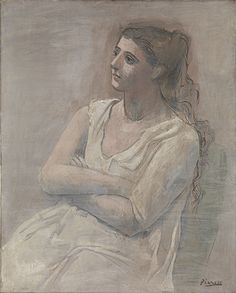 Pablo Picasso (Spanish, 1881–1973): Woman in White, 1923. - Google Search