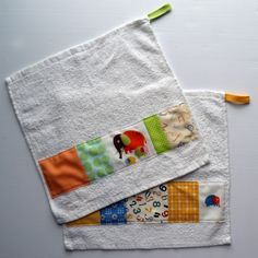 a cuppa and a catch up: patchwork baby washcloths by @Nova Flitter