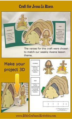 3D Paper Craft for Jesus is Risen Freebie
