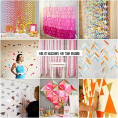 DIY wedding backdrop projects, including a tutorial for my tissue fringe backdrop!   Bajan Wed