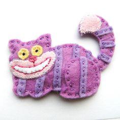 cheshir cat, cats meow, cheshire cat, felt cheshir, craft idea, alic, felt craft, diy, cat felt