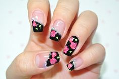 betsey johnson-ish nails... add some bows!!!