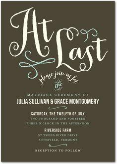 invitation: At Last:Dark Gray