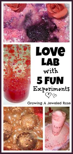 Love Potions Lab with 5 SWEET Science experiments for kids!