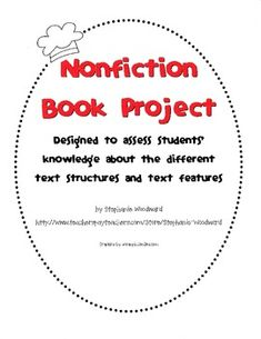Great way to assess nonfiction text features!