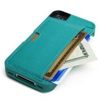 Amazon.com: CM4 Q4-GREEN Q Card Case Wallet for Apple iPhone 4/4S - 1 Pack - Retail Packaging - Pacific Green: Cell Phones & Accessories