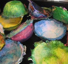 paper mache bowls by janelafazio, via Flickr