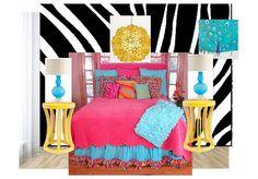 zebra Teen bedroom!