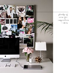 office space update - creative image board collage