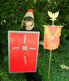 Make a Roman shield and standard roman shield, earli roman