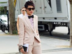 Cute Suit. Making a suit and tie feminine and fun.  Esther Quek