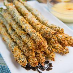 Crispy Baked Asparagus Fries #lowcarb