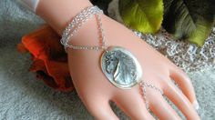Horse Shell Slave Bracelet Hand Chain Body Jewelry by JWBoutique1, $20.00