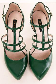 green T-straps